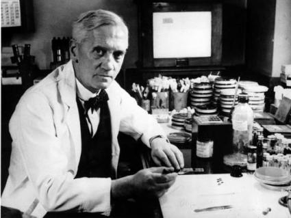 """Alexander Fleming"" by Calibuon at English Wikibooks - Transferred from en.wikibooks to Commons by Adrignola using CommonsHelper.. Licensed under Public Domain via Commons."