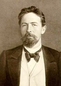 """Anton Chekhov with bow-tie sepia image"" by Unknown - http://www.my-chekhov.ru/. Licensed under Public Domain via Commons."