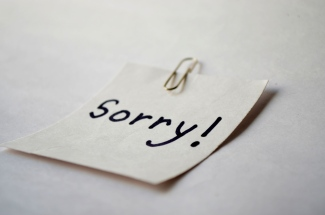 Sorry note. http://www.pdpics.com/photo/2694-sorry-note/