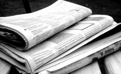 Newspapers B&W (5). Jon S on Flikr. https://www.flickr.com/photos/62693815@N03/6277209256