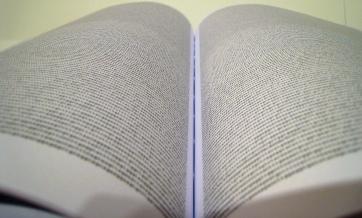 Human genome printed. Adam Nieman on Flikr. https://www.flickr.com/photos/johnjobby/2252981353